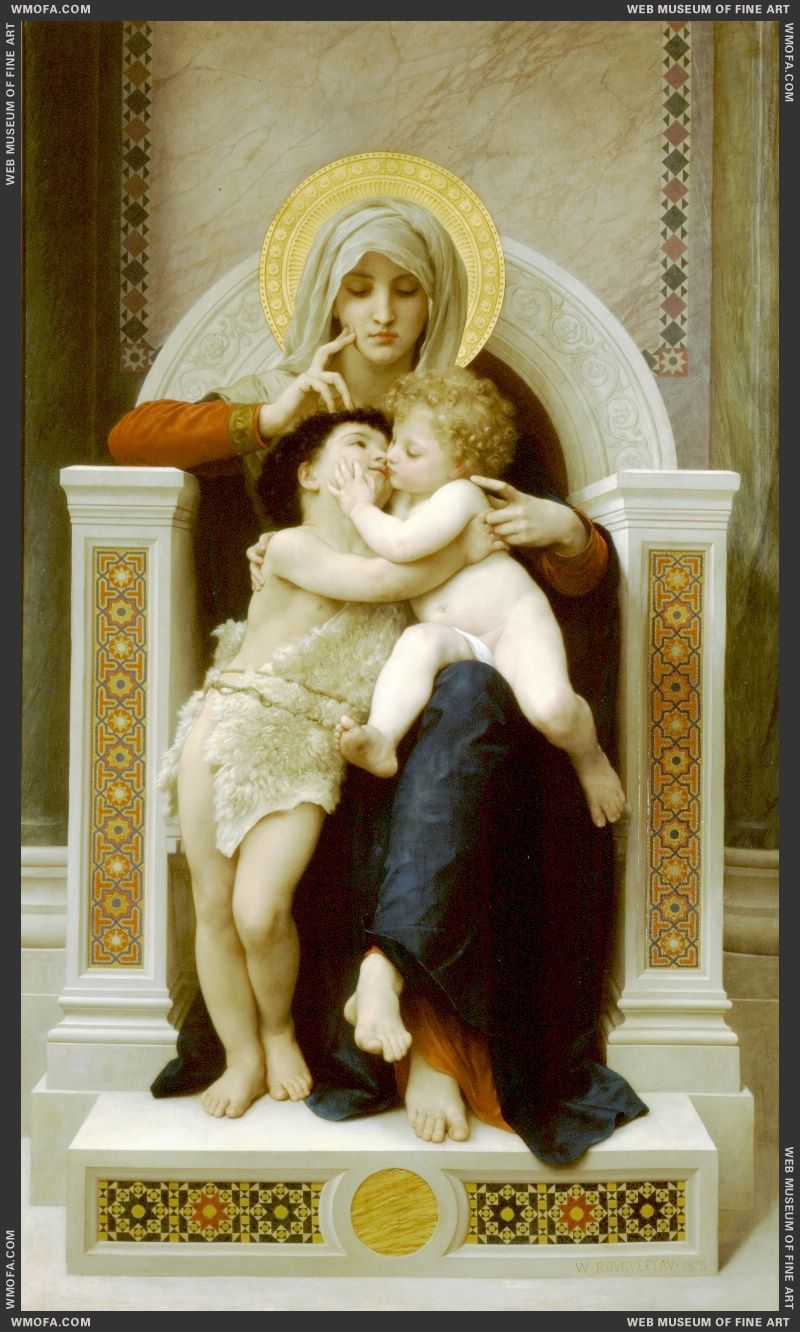 The Virgin the Baby Jesus and Saint John the Baptist 1875 by Bouguereau, William
