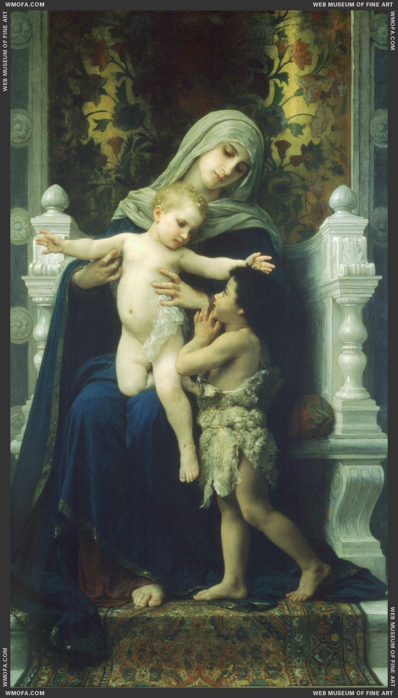 The Virgin the Baby Jesus and Saint John the Baptist 1881 by Bouguereau, William
