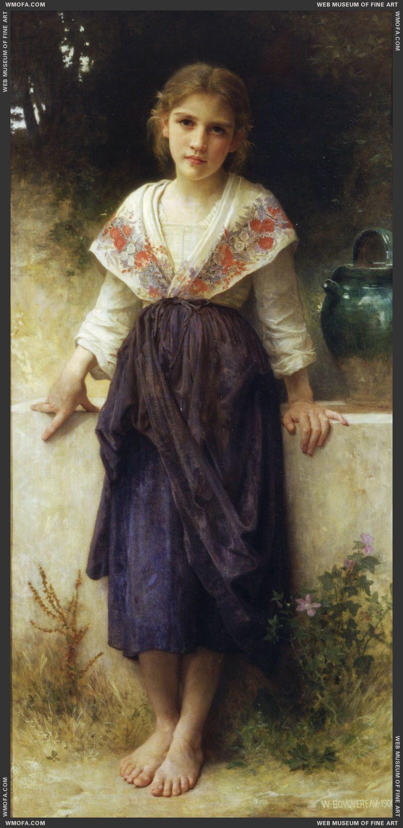 Un Moment de Repos - A Moments Rest 1900 by Bouguereau, William