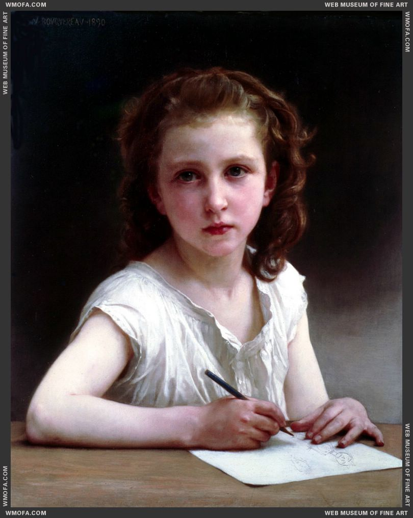 Une Vocation - A Calling 1890 by Bouguereau, William