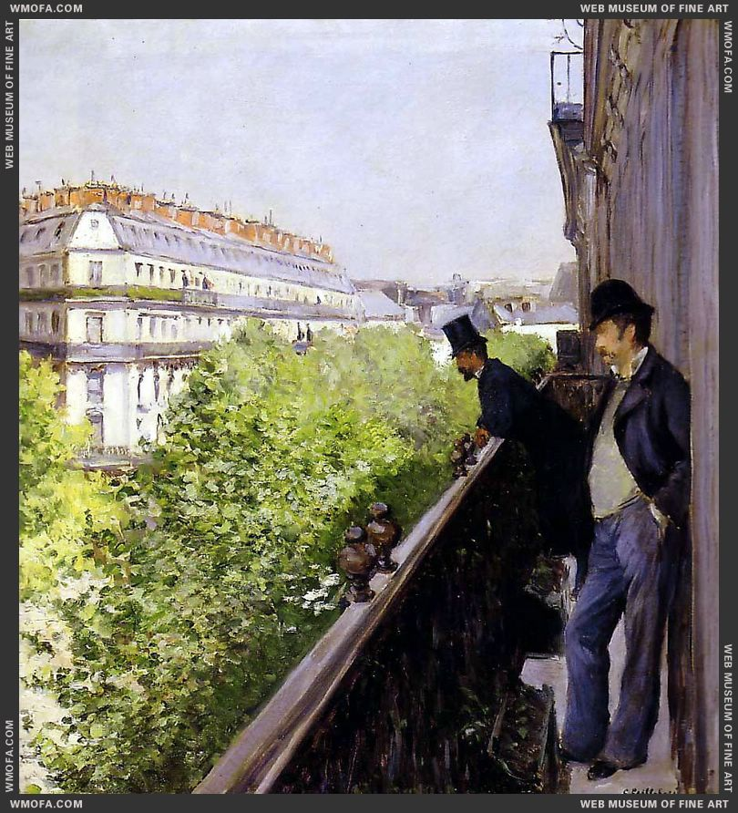 A Balcony 1880 by Caillebotte, Gustave