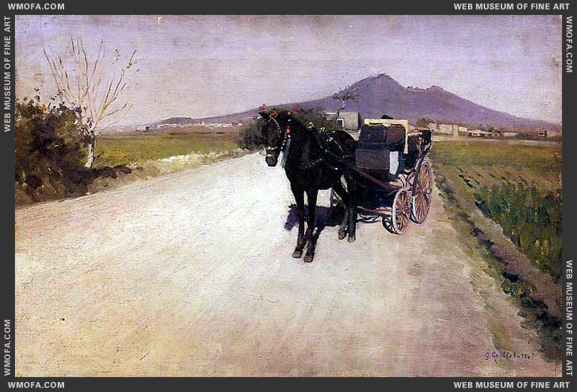 A Road Near Naples 1872 by Caillebotte, Gustave