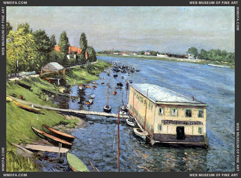 Boathouse in Argenteuil 1886-1887 by Caillebotte, Gustave