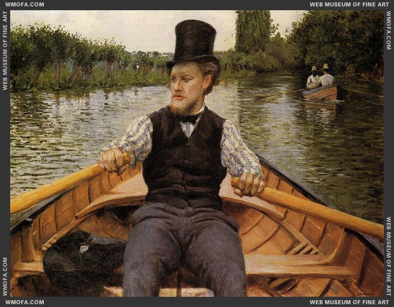 Boating Party - Oarsman in a Top Hat 1877-1878 by Caillebotte, Gustave