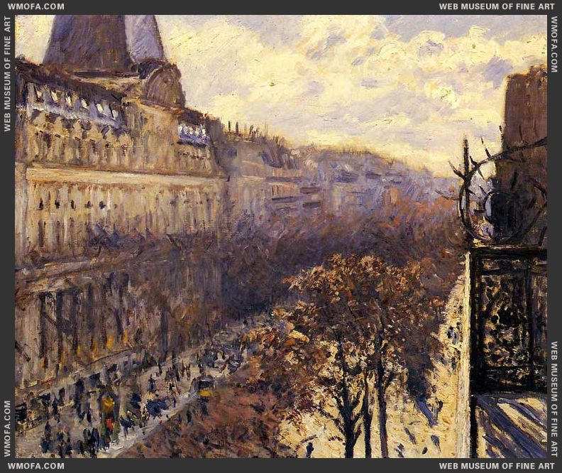 Boulevard des Italiens 1880 by Caillebotte, Gustave