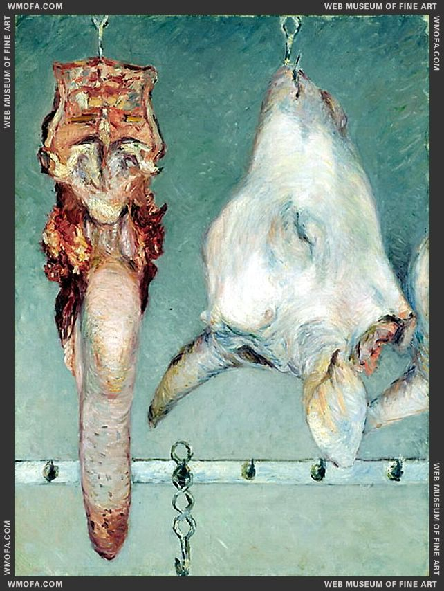 Calfs Head and Ox Tongue - Tete de veau et langue de boeuf c1882 by Caillebotte, Gustave