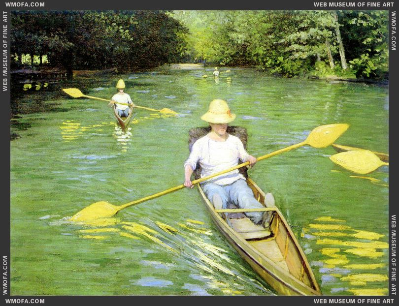 Canoeists 1877 by Caillebotte, Gustave