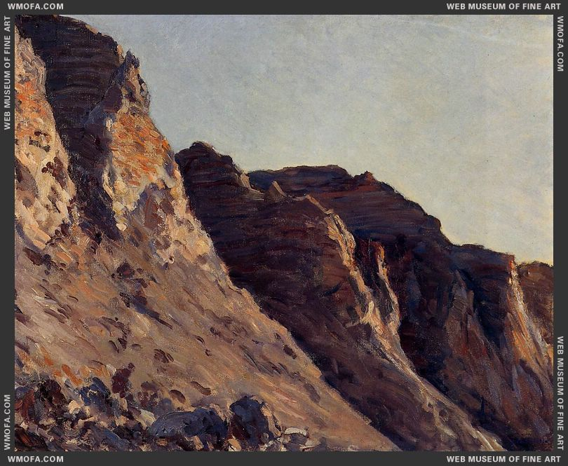 Cliff at Villers sur Mer c1880 by Caillebotte, Gustave