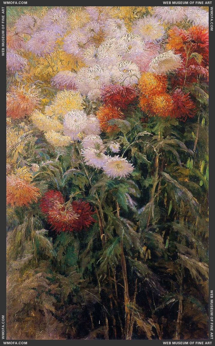 Clump of Chrysanthemums Garden at Petit Gennevilliers 1890 by Caillebotte, Gustave