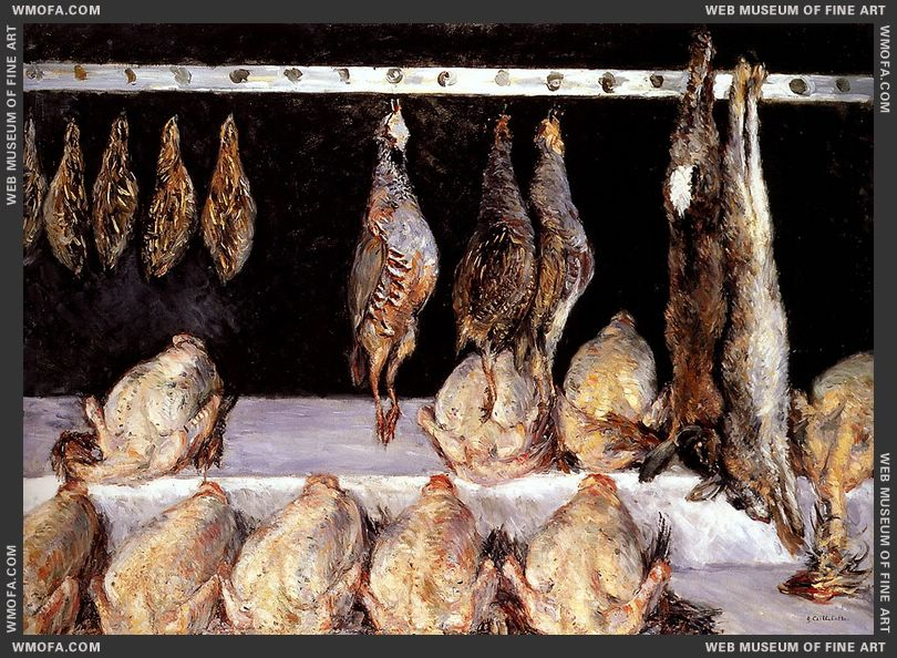 Display Of Chickens And Game Birds 1882 by Caillebotte, Gustave