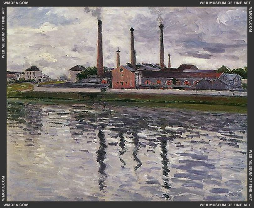Factories at Argenteuil 1888 by Caillebotte, Gustave