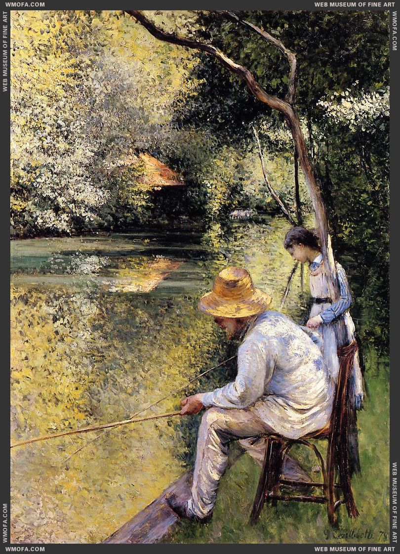Fishing 1878 by Caillebotte, Gustave