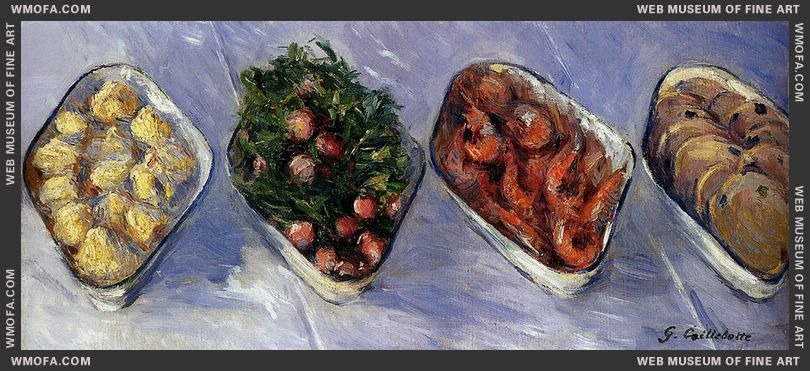 Hors D Oeuvre c1881-1882 by Caillebotte, Gustave
