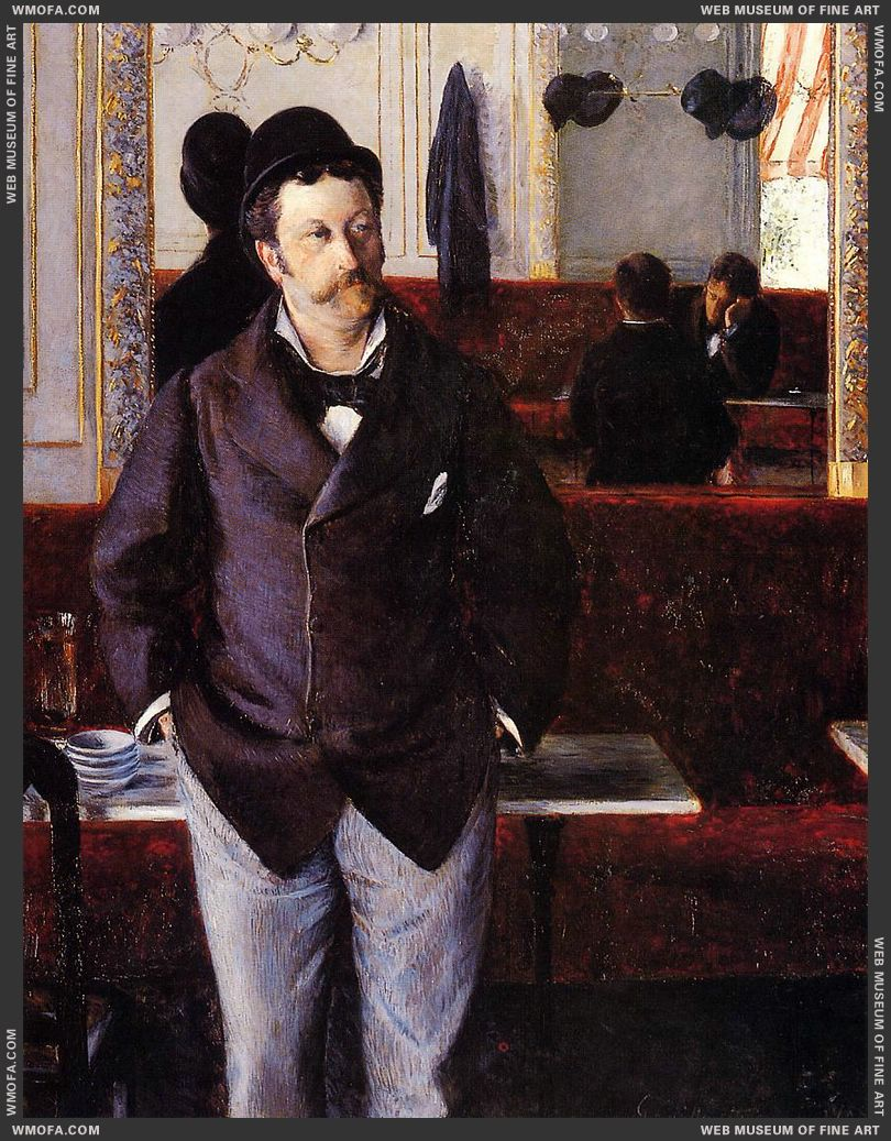 In a Cafe 1880 by Caillebotte, Gustave