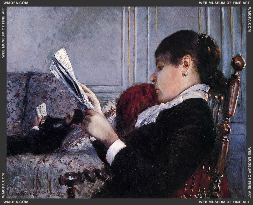 Interior 2 1880 by Caillebotte, Gustave