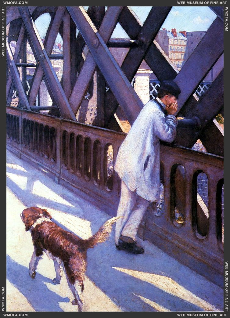 Le Pont De l-Europe - The Bridge of Europe - detail - 1877 by Caillebotte, Gustave
