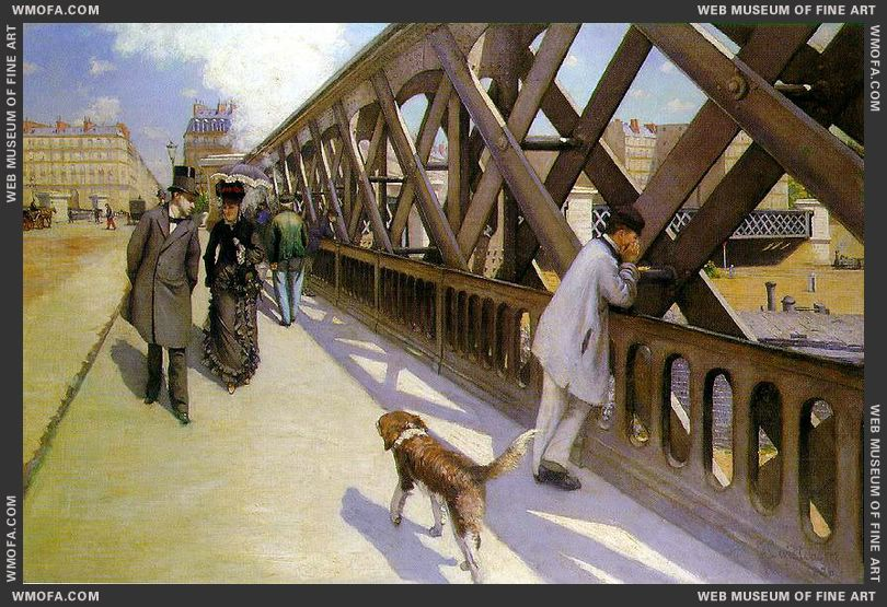 Le Pont de l-Europe - The Bridge of Europe 1876 by Caillebotte, Gustave