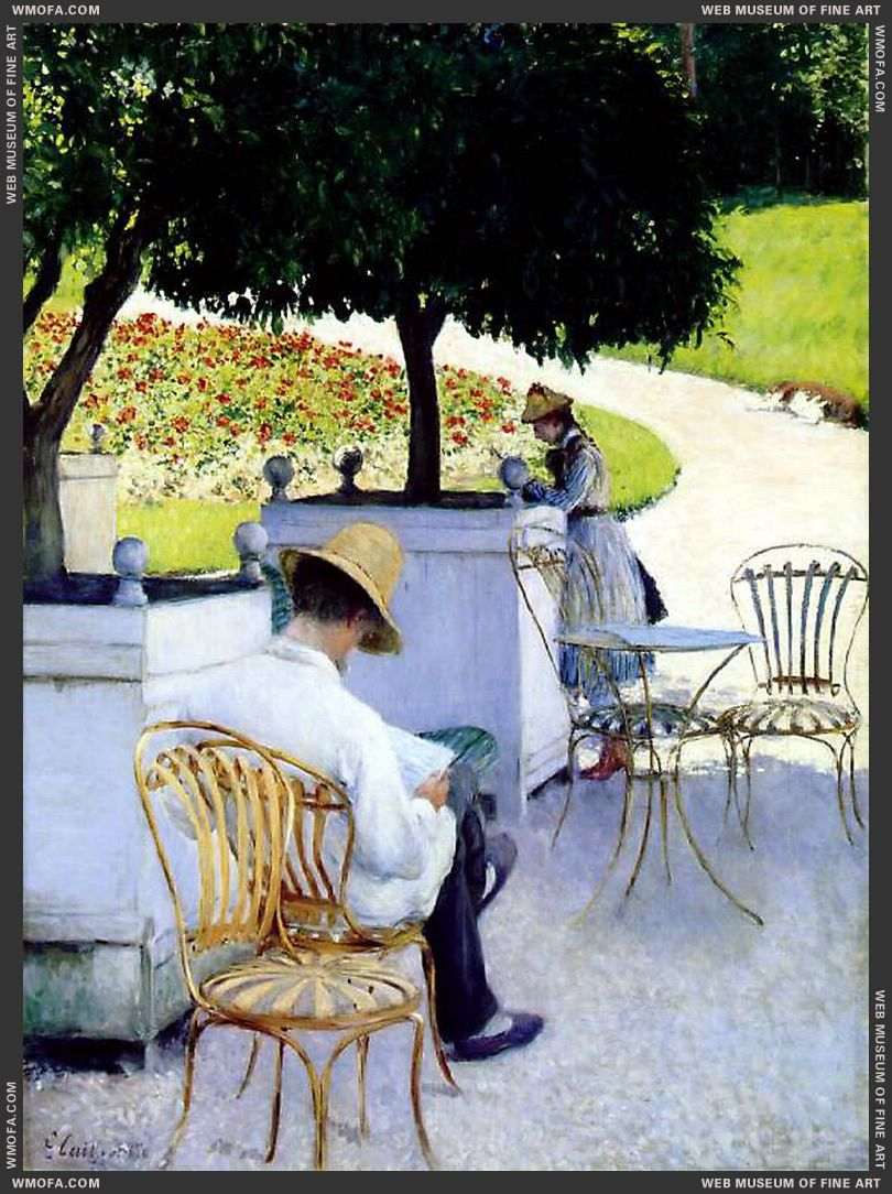 Les Orangers - The Orange Trees - 1878 by Caillebotte, Gustave