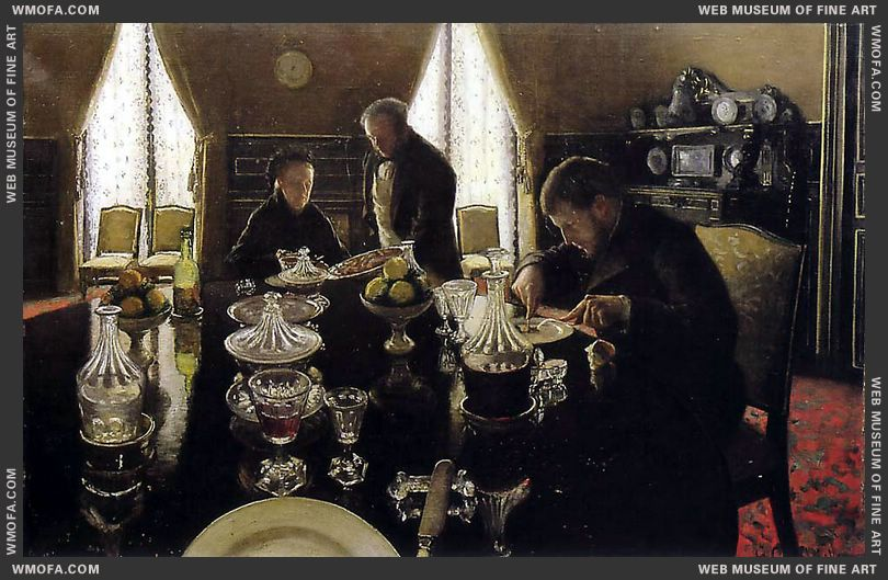 Luncheon 1876 by Caillebotte, Gustave