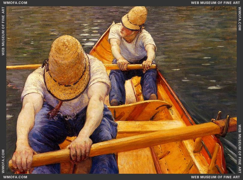 Oarsmen 1877 by Caillebotte, Gustave