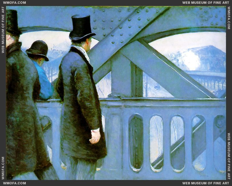On the Bridge of Europe 1876-1877 by Caillebotte, Gustave