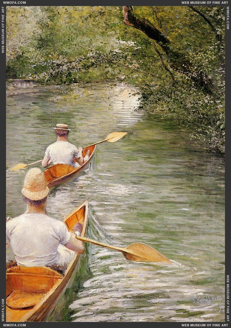 Perissoires - The Canoes 1878 by Caillebotte, Gustave