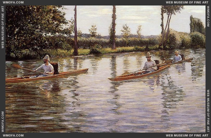 Perissoires sur l-Yerres - Boating on the Yerres 1877 by Caillebotte, Gustave