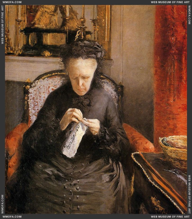 Portait of Madame Martial Caillebote - the artists mother - 1877 by Caillebotte, Gustave