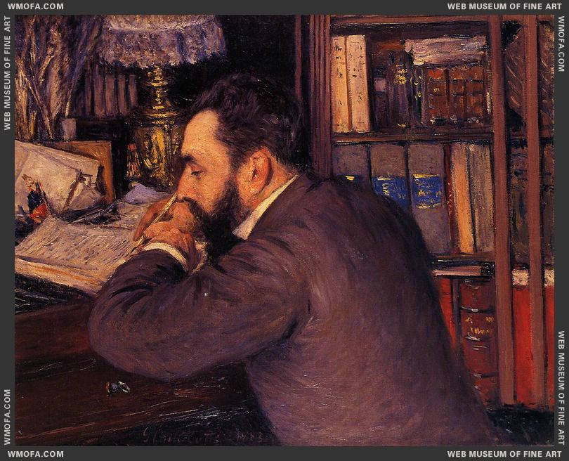 Portrait of Henri Cordier 1883 by Caillebotte, Gustave