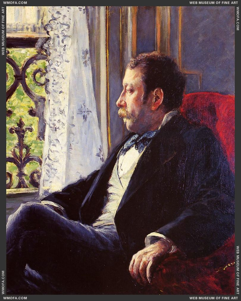 Portrait of a Man 1880 by Caillebotte, Gustave