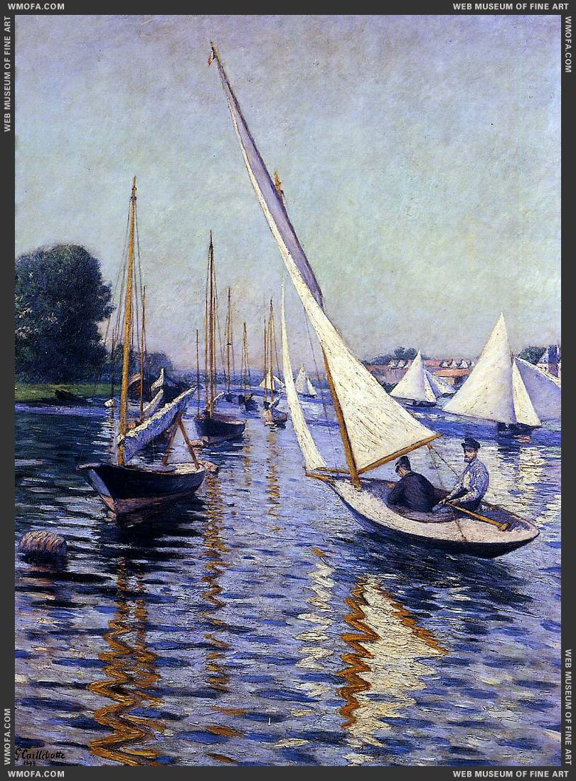 Regatta at Argenteuil 1893 by Caillebotte, Gustave