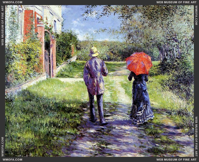 Rising Road 1881 by Caillebotte, Gustave