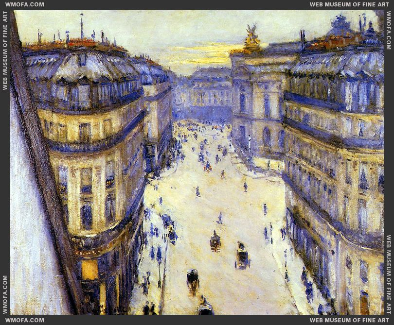 Rue Halevy Seen from the Sixth Floor 1878 by Caillebotte, Gustave
