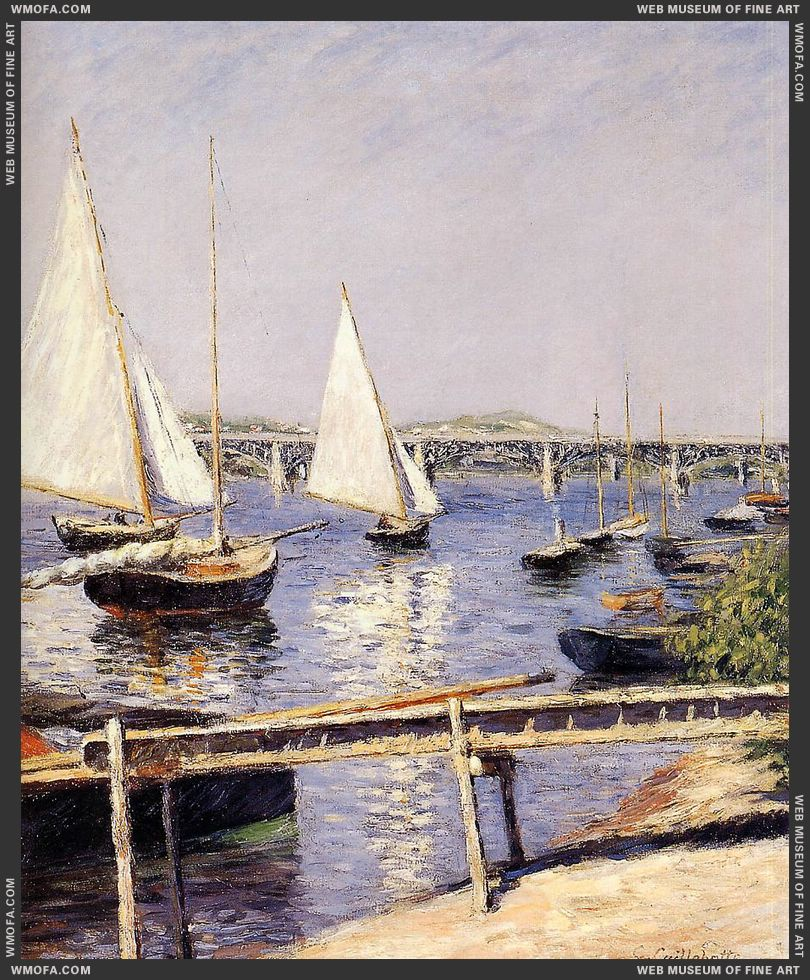Sailing Boats at Argenteuil c1885-1890 by Caillebotte, Gustave