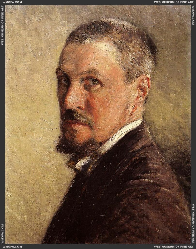 Self-Portrait 1888-1889 by Caillebotte, Gustave