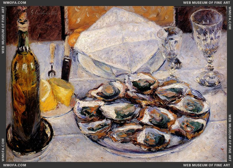 Still Life Oysters 1881 by Caillebotte, Gustave