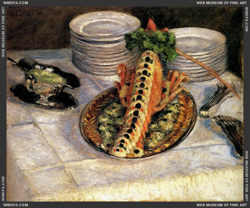 Still Life With Crayfish c1880-1882 by Caillebotte, Gustave