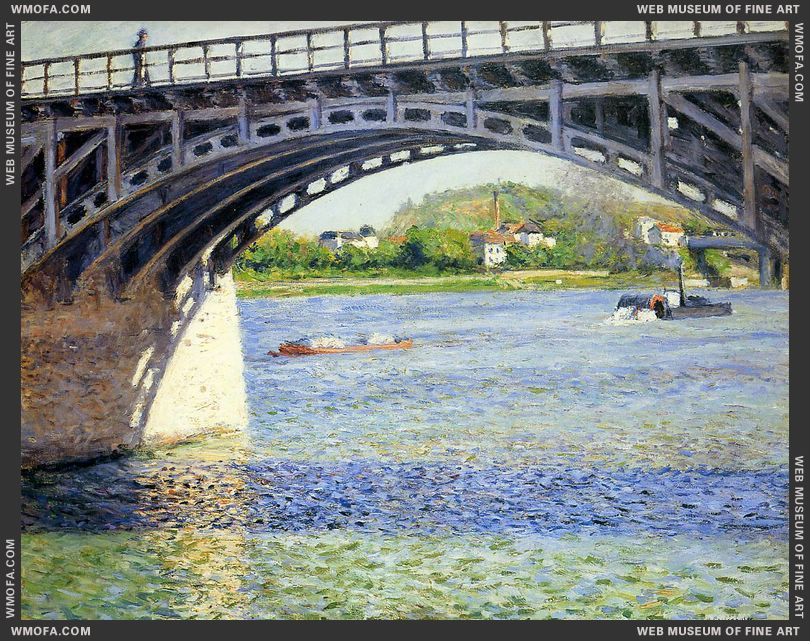 The Argenteuil Bridge and the Seine c1883 by Caillebotte, Gustave