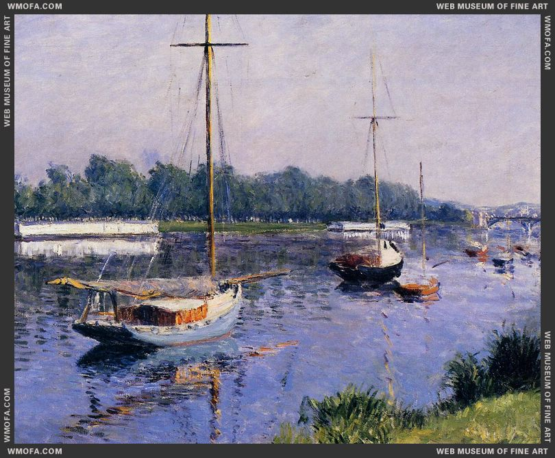 The Basin at Argenteuil c1882 by Caillebotte, Gustave