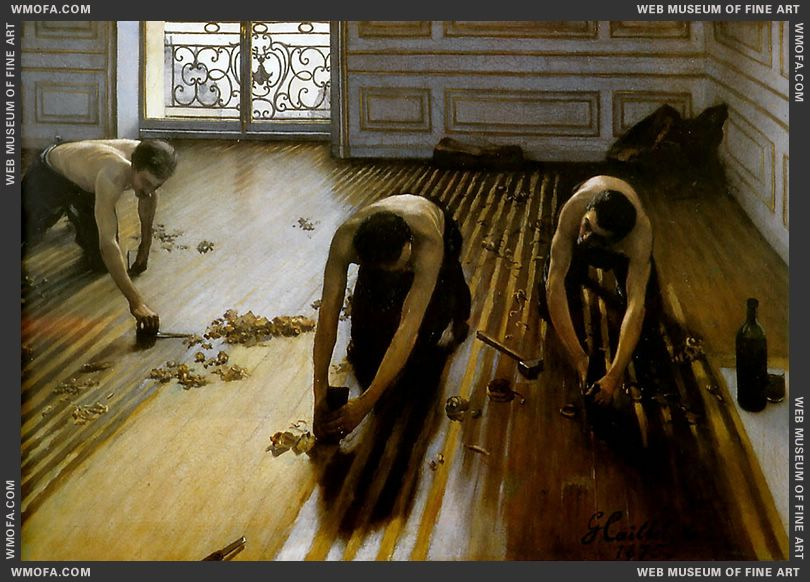 The Floor Scrapers 1875 by Caillebotte, Gustave