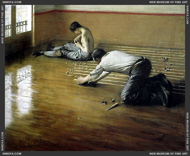 The Floor Scrapers 1876 by Caillebotte, Gustave