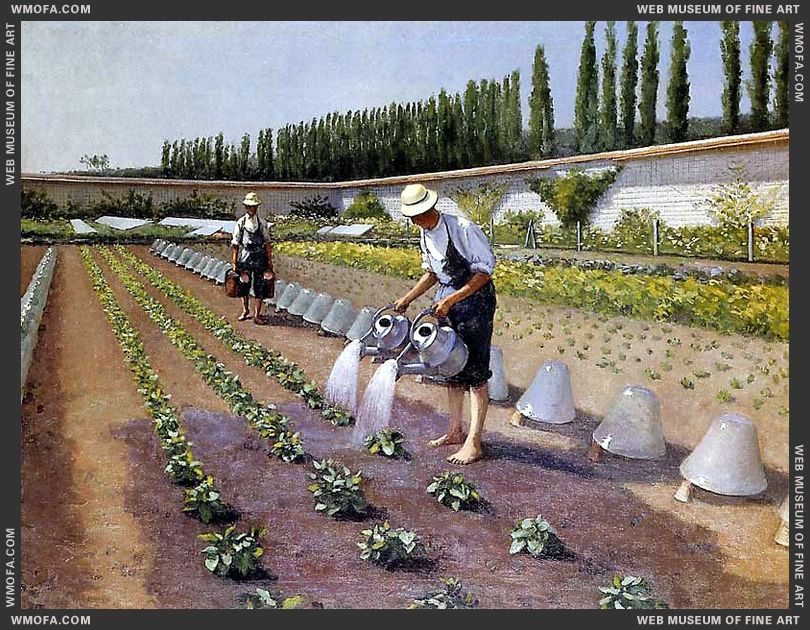 The Gardeners 1875-1877 by Caillebotte, Gustave
