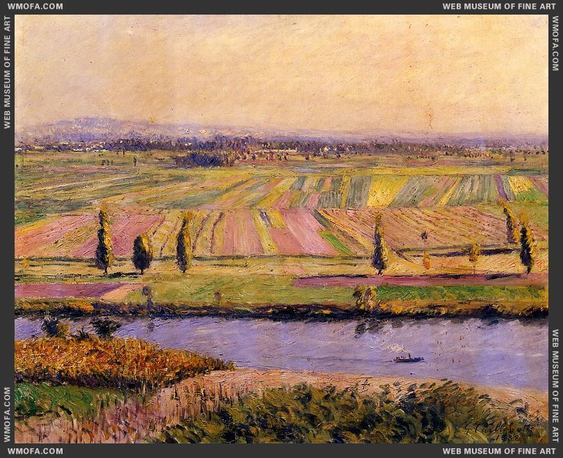 The Gennevilliers Plain Seen from the Slopes of Argenteuil 1888 by Caillebotte, Gustave