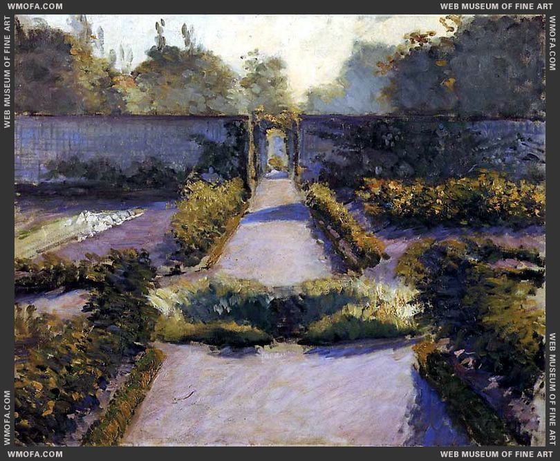 The Kitchen Garden Yerres 1875-1877 by Caillebotte, Gustave