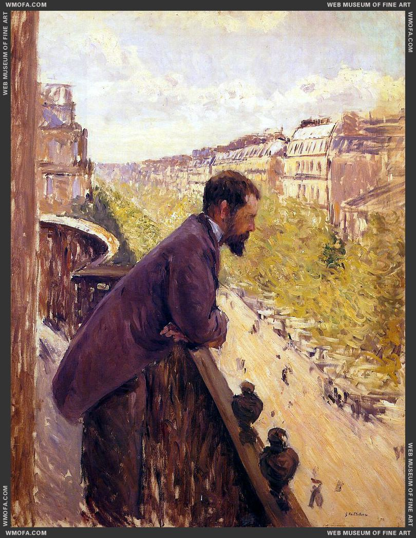 The Man on the Balcony c1880 by Caillebotte, Gustave