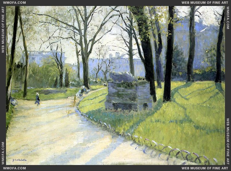 The Parc Monceau 1878 by Caillebotte, Gustave