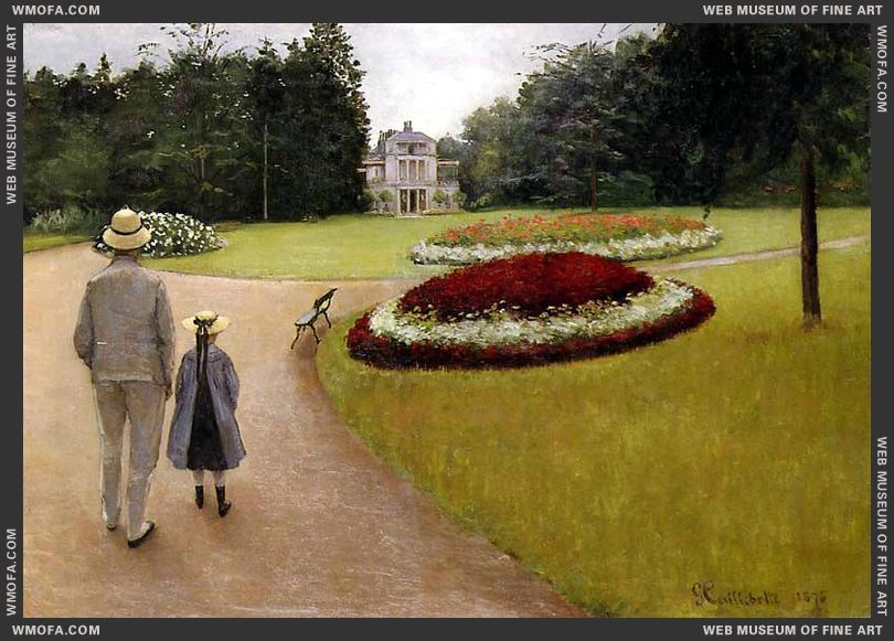 The Park on the Caillebotte Property at Yerres 1875 by Caillebotte, Gustave