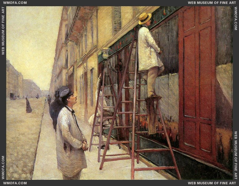 The Sign Painters 1877 by Caillebotte, Gustave