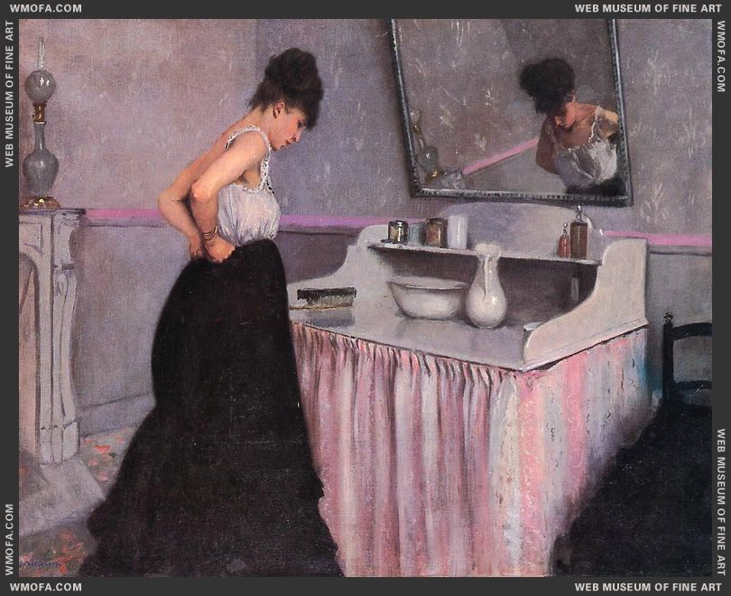Woman at a Dressing Table c1873 by Caillebotte, Gustave