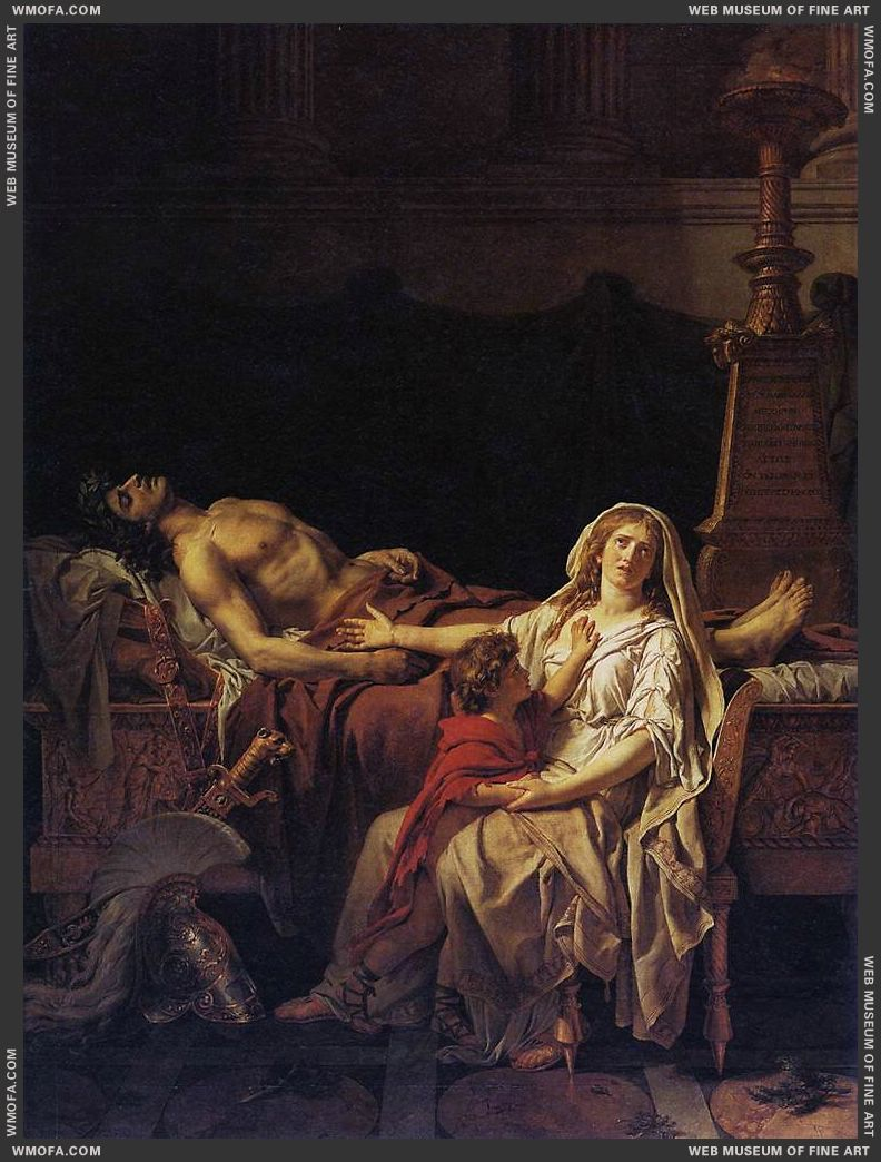 Andromache Mourning Hector 1783 by David, Jacques-Louis